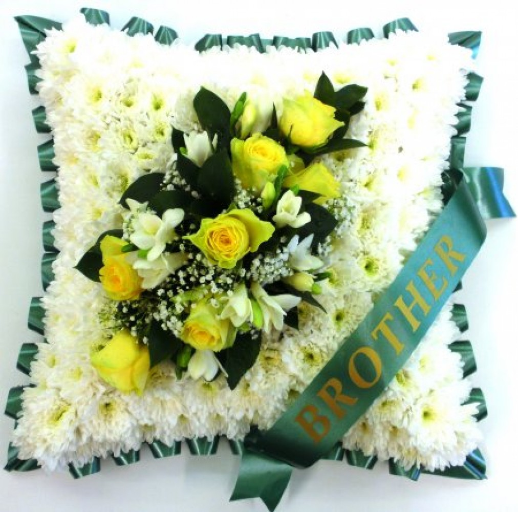 Funeral Cushion Green Ultimate Flowers